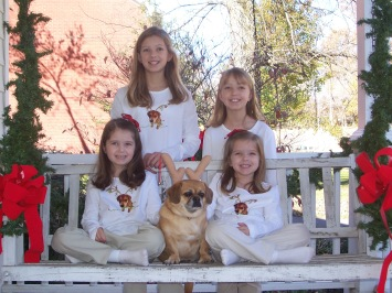 One of 16 annual Christmas card pictures including Sarah