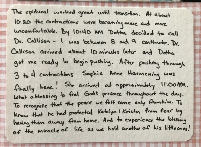 Sophie's Birth Part 5